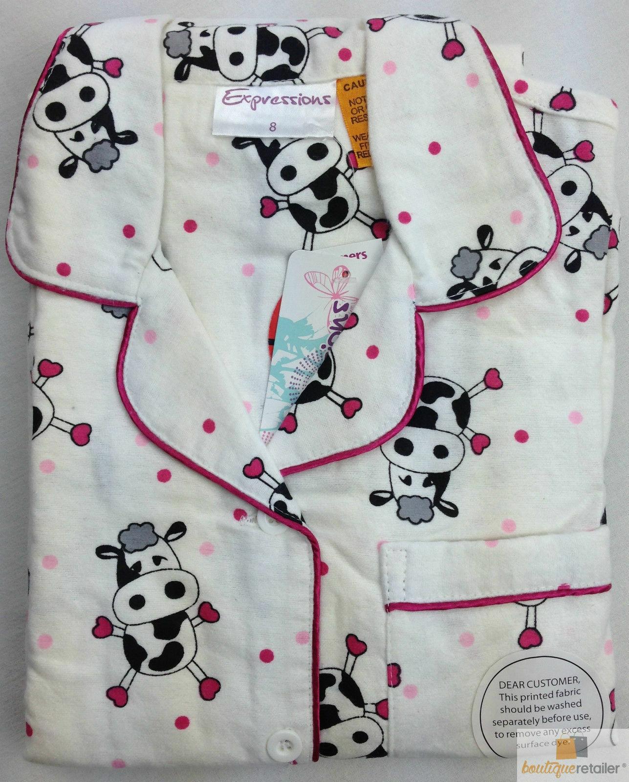 KIDS WINTER FLANNELETTE PYJAMAS PJs Boys Girls Flannel Pajamas Pyjama Set PJ