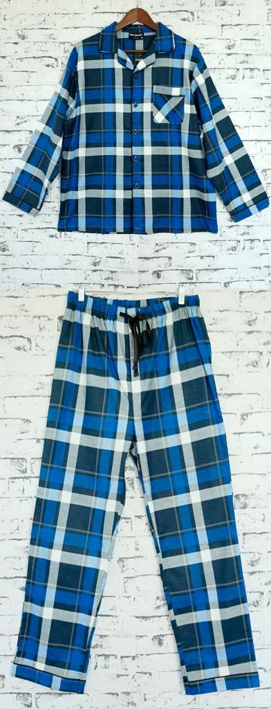 Men/'s FLANNELETTE PYJAMA Set Sleepwear Soft 100/% Cotton PJs Two Piece Pajamas