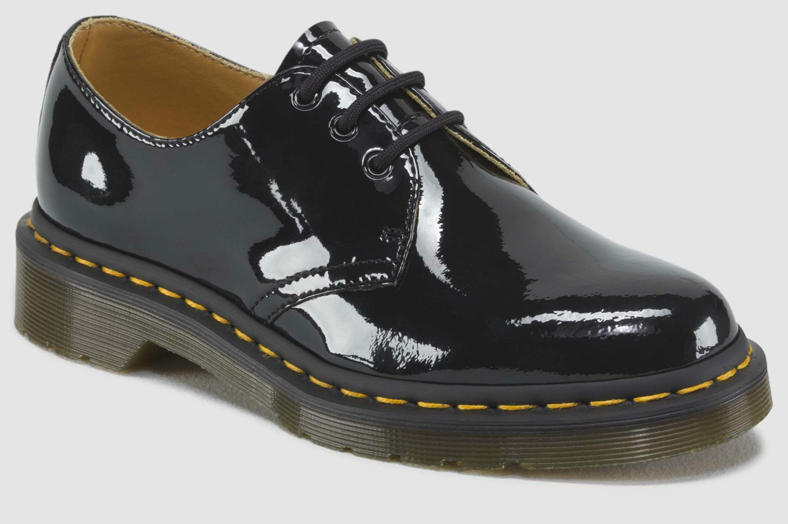 thumbnail 4 - Dr. Martens 1461 Patent 3 Eye Shoes Genuine Leather Ladies Womens Shiny Gloss