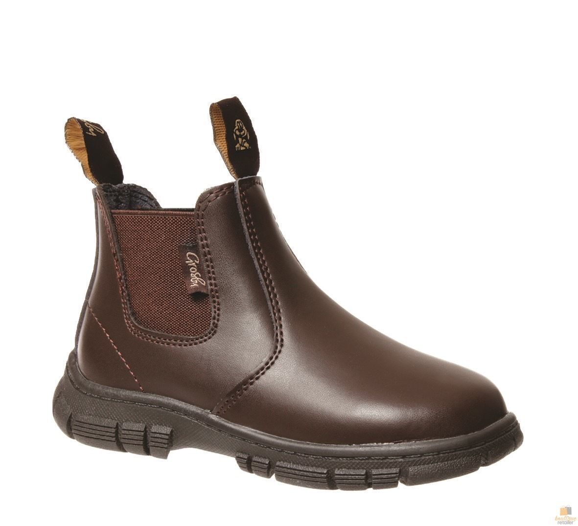 GROSBY-Ranch-Boots-Pull-On-Shoes-Kids-Children-039-s-Infants-Toddlers-Childs-New thumbnail 12