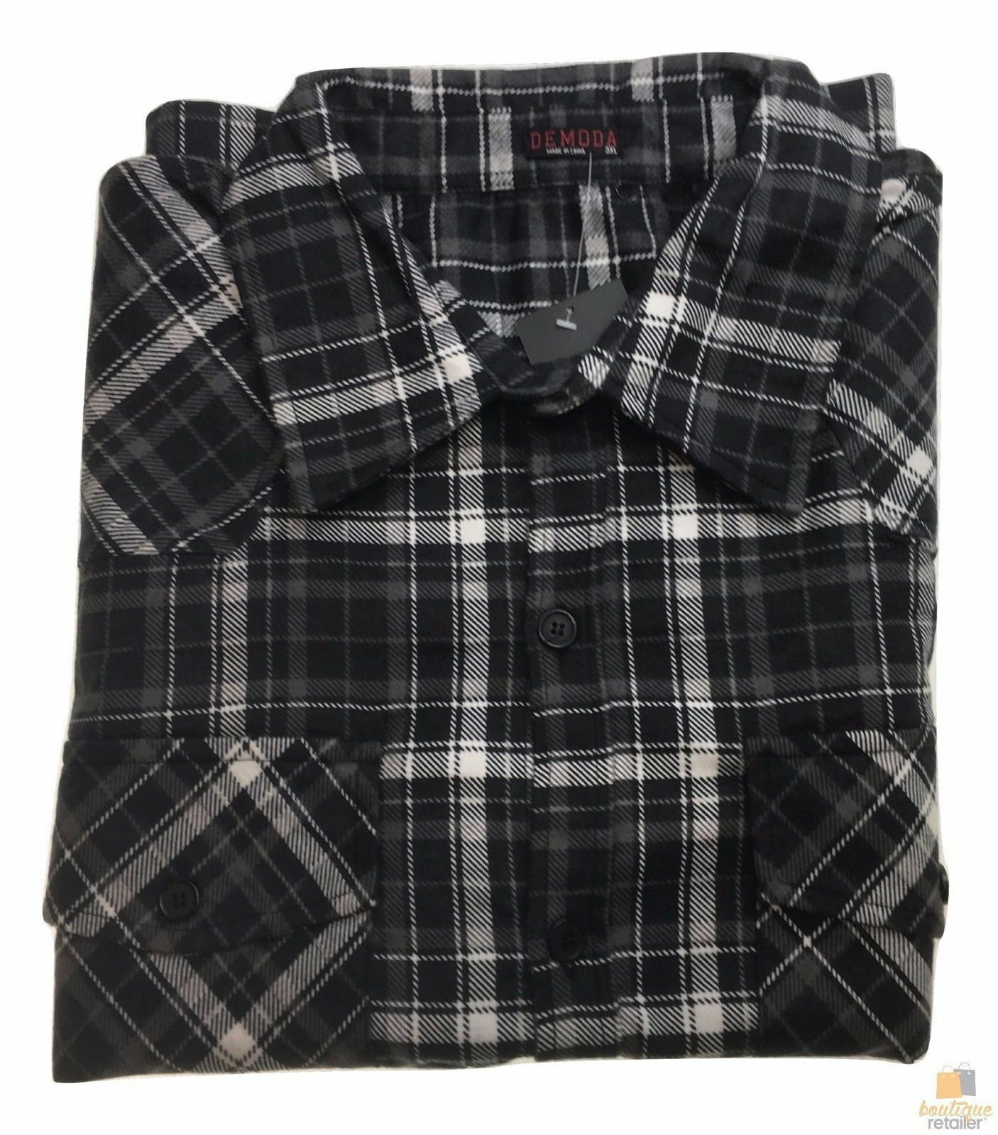Men-039-s-Button-Up-PLUS-SIZE-FLANNELETTE-SHIRT-Check-100-COTTON-Flannel-Big-amp-Tall thumbnail 9