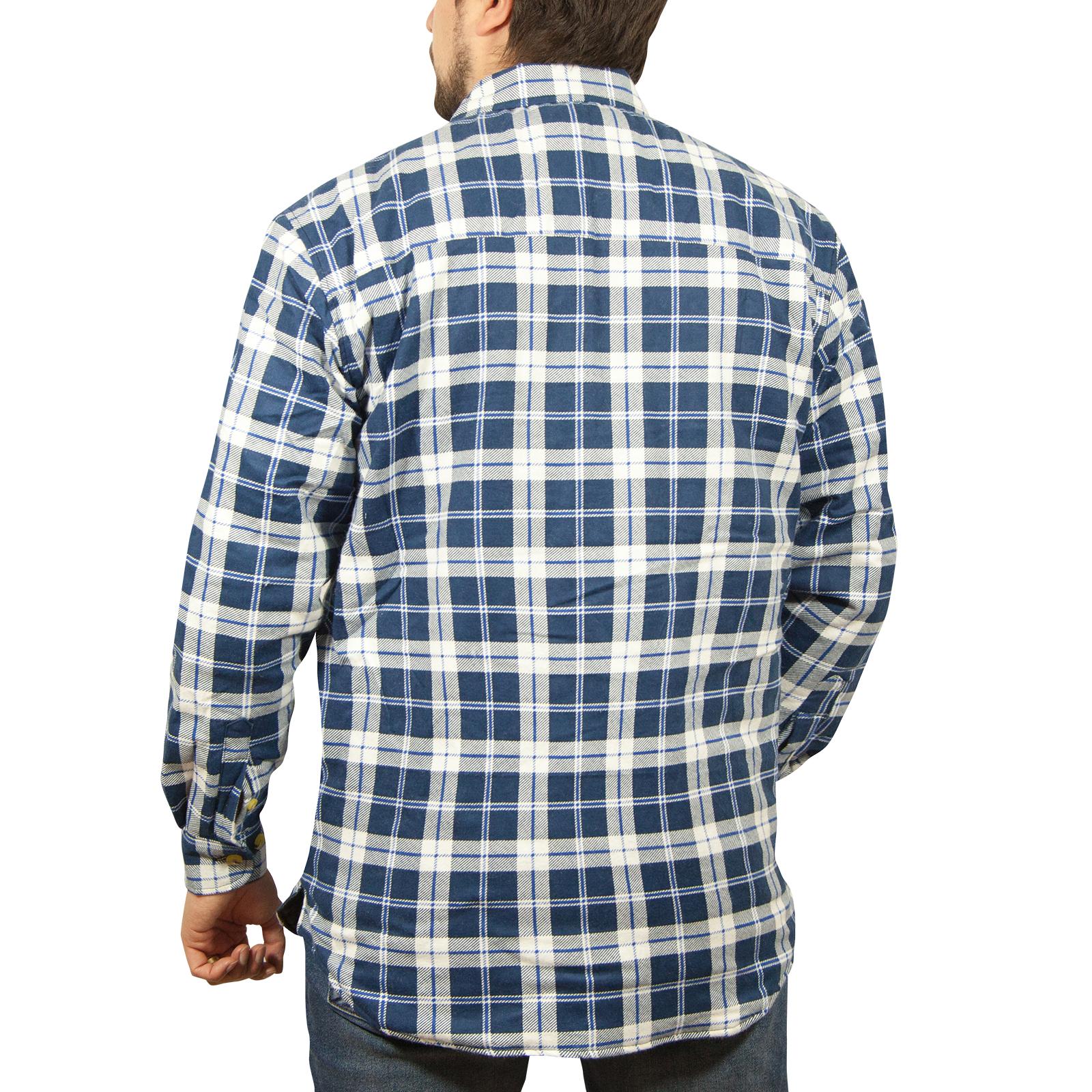 Chaqueta-Acolchada-flanelita-Camisa-Hombre-100-algodon-acolchado-caliente-de-invierno-franela miniatura 9