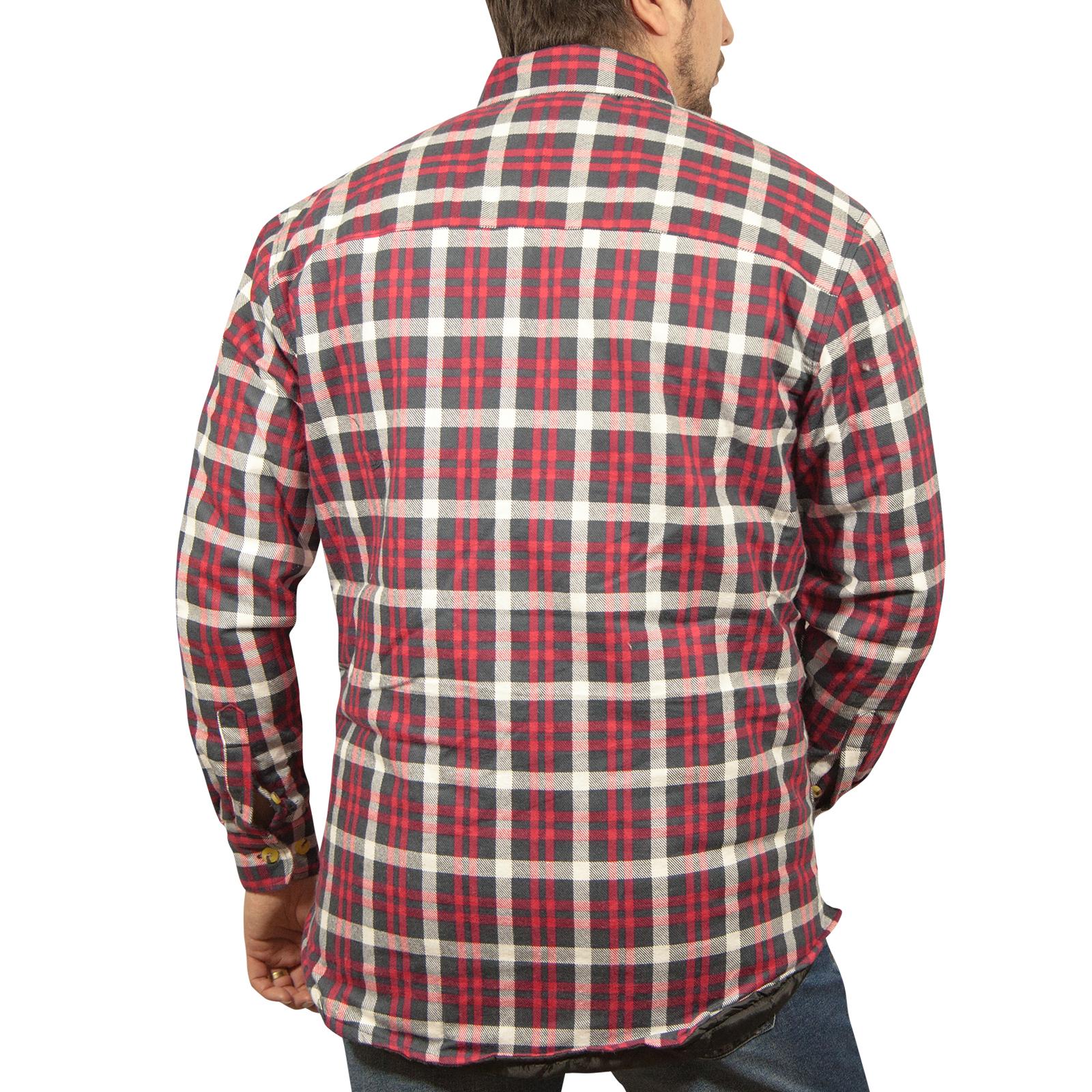 Chaqueta-Acolchada-flanelita-Camisa-Hombre-100-algodon-acolchado-caliente-de-invierno-franela miniatura 45