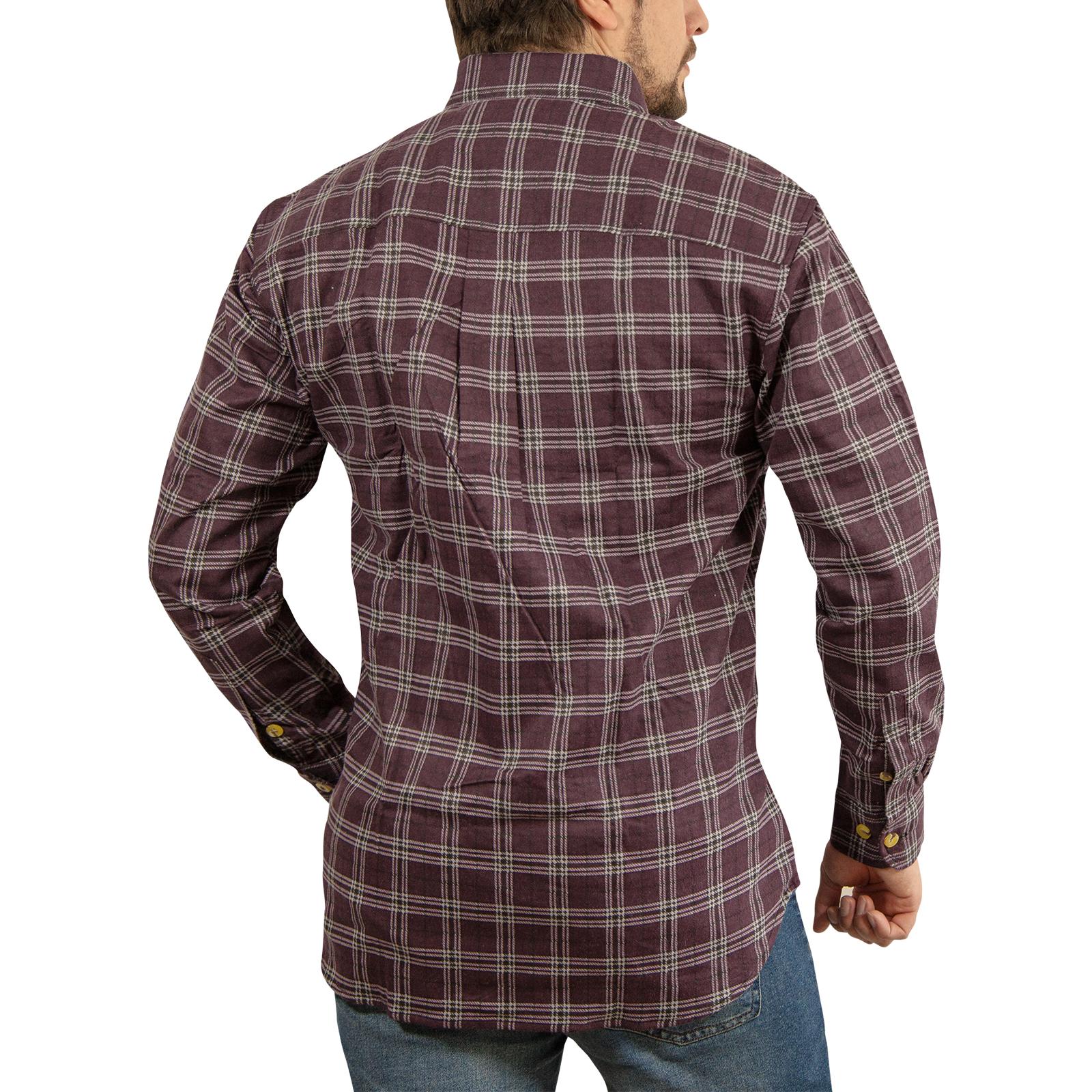 Chaqueta-Acolchada-flanelita-Camisa-Hombre-100-algodon-acolchado-caliente-de-invierno-franela miniatura 54