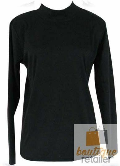 Plus-Size-Womens-Skivvy-Turtle-Neck-Long-Sleeve-Top-Skivvies-High-Roll-King-Big thumbnail 7