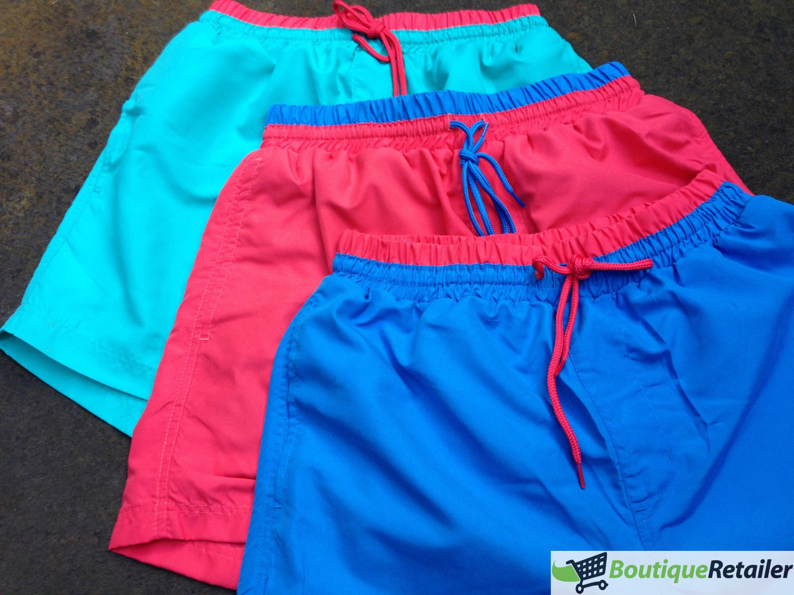 thumbnail 8 - Mens-BOARD-SHORTS-Surf-Beach-Swim-Quick-Dry-Boardies-PLAIN-Lined-Pockets-S-XXL