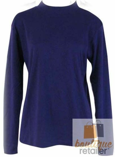 Plus-Size-Womens-Skivvy-Turtle-Neck-Long-Sleeve-Top-Skivvies-High-Roll-King-Big thumbnail 16