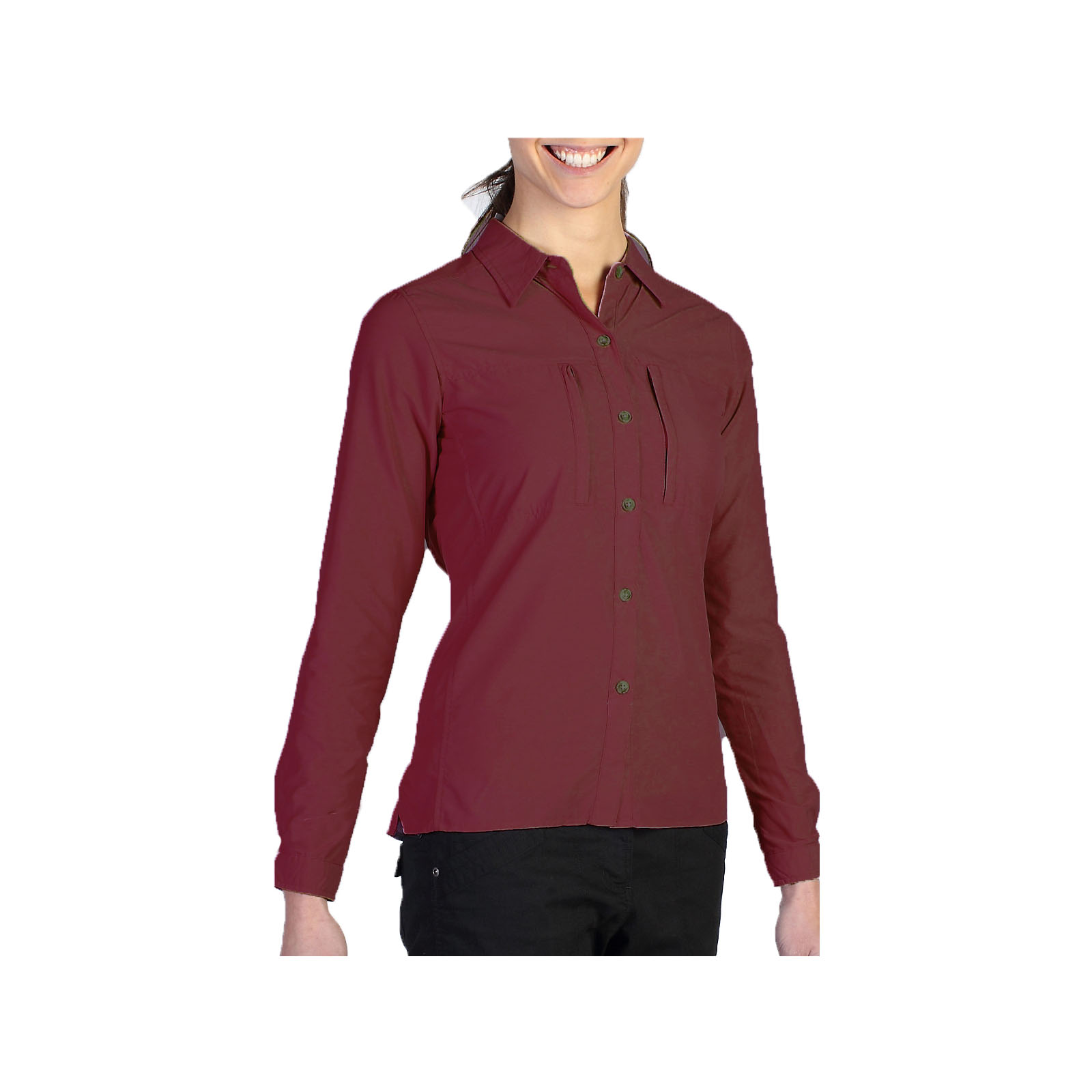 ExOfficio-Dryflylite-Long-Sleeve-Women-039-s-Shirt-UV-Protection-Hiking-2001-1015 thumbnail 8
