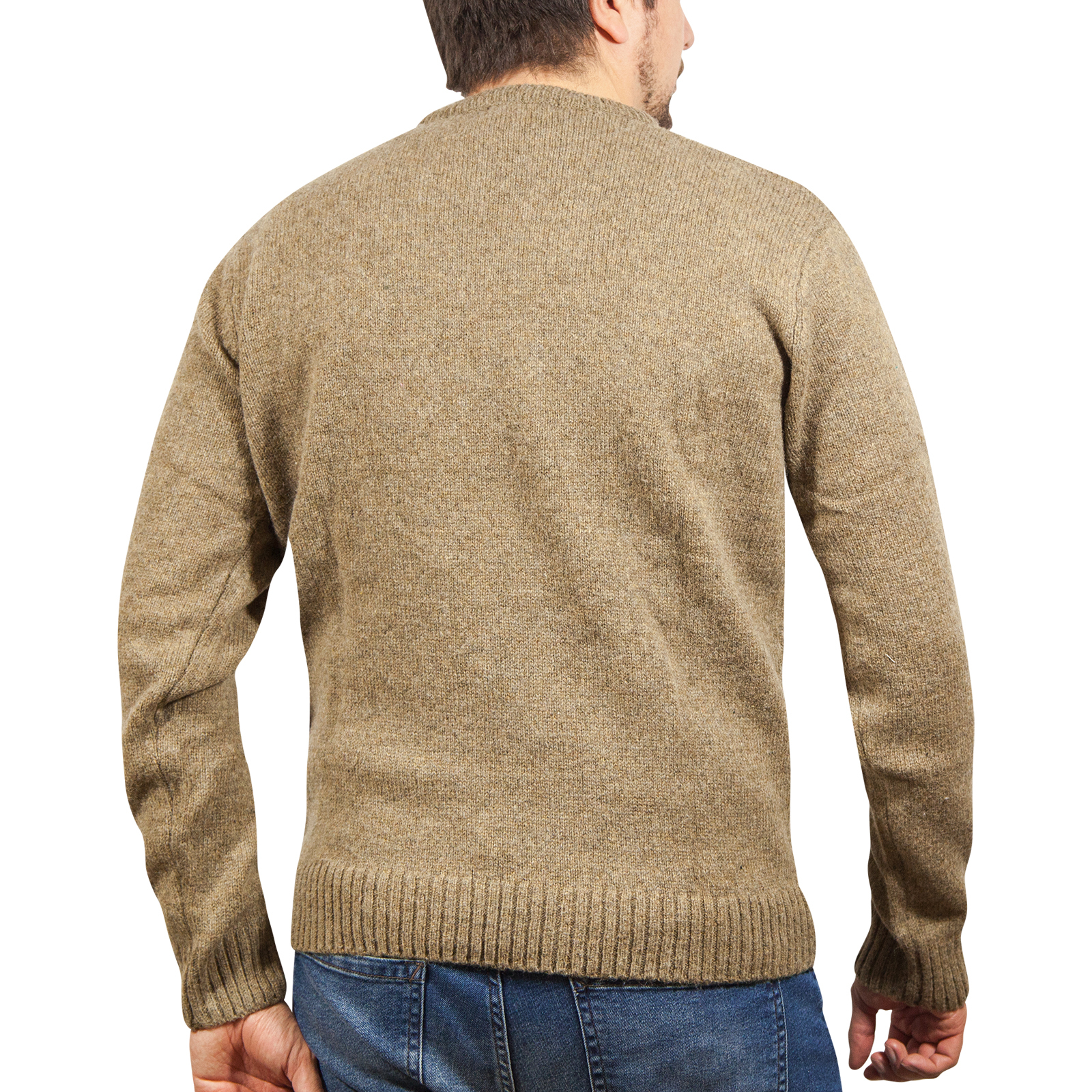 100-SHETLAND-WOOL-CREW-Round-Neck-Knit-JUMPER-Pullover-Mens-Sweater-Knitted-New thumbnail 109