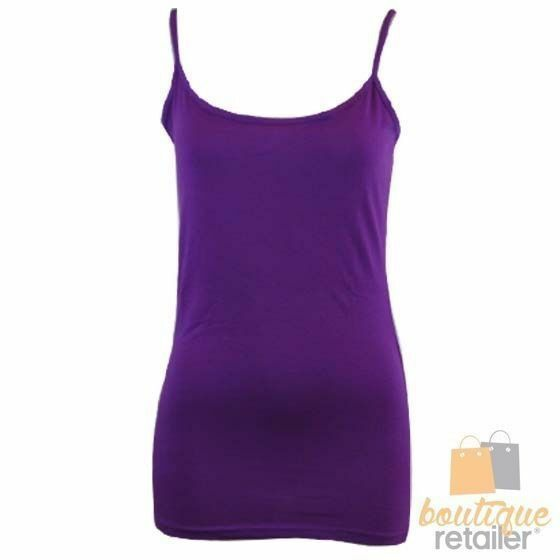 CAMISOLE-TOP-Long-Cami-Top-Women-039-s-Singlet-Summer-Casual-Wear-Basic-Tank-Shirt thumbnail 69