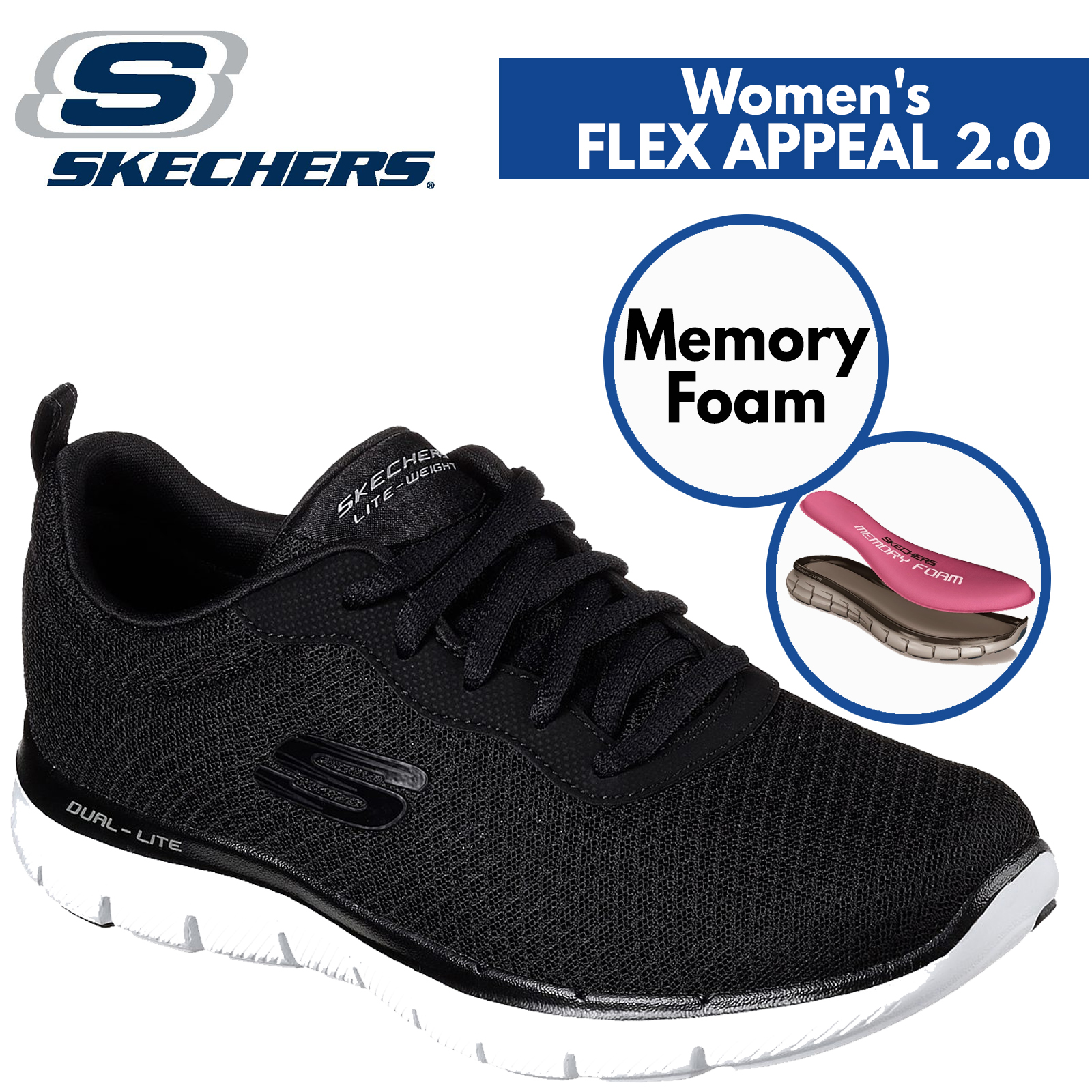 skechers air cooled memory foam for
