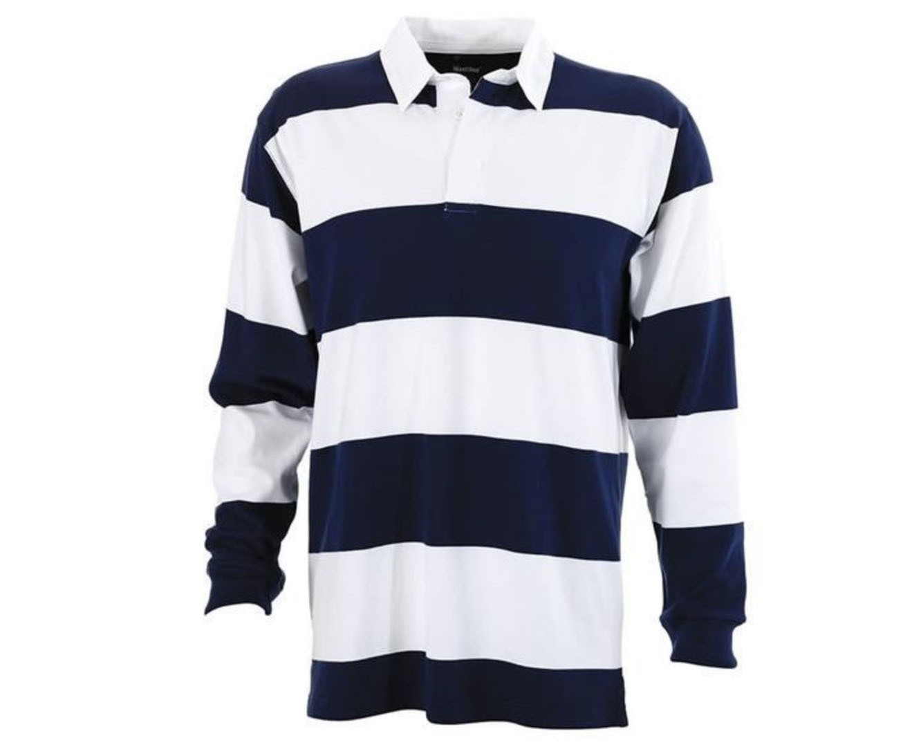 Identitee-Men-039-s-Striped-RUGBY-TOP-100-Cotton-Long-Sleeve-Jumper-Polo-Shirt thumbnail 16
