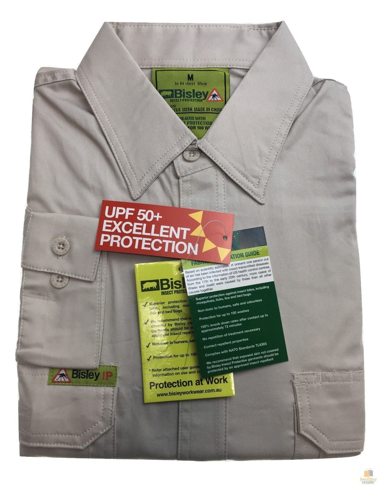BISLEY-Insect-Protection-Fishing-Shirt-Long-Sleeve-Casual-Business-Work-Cotton thumbnail 20