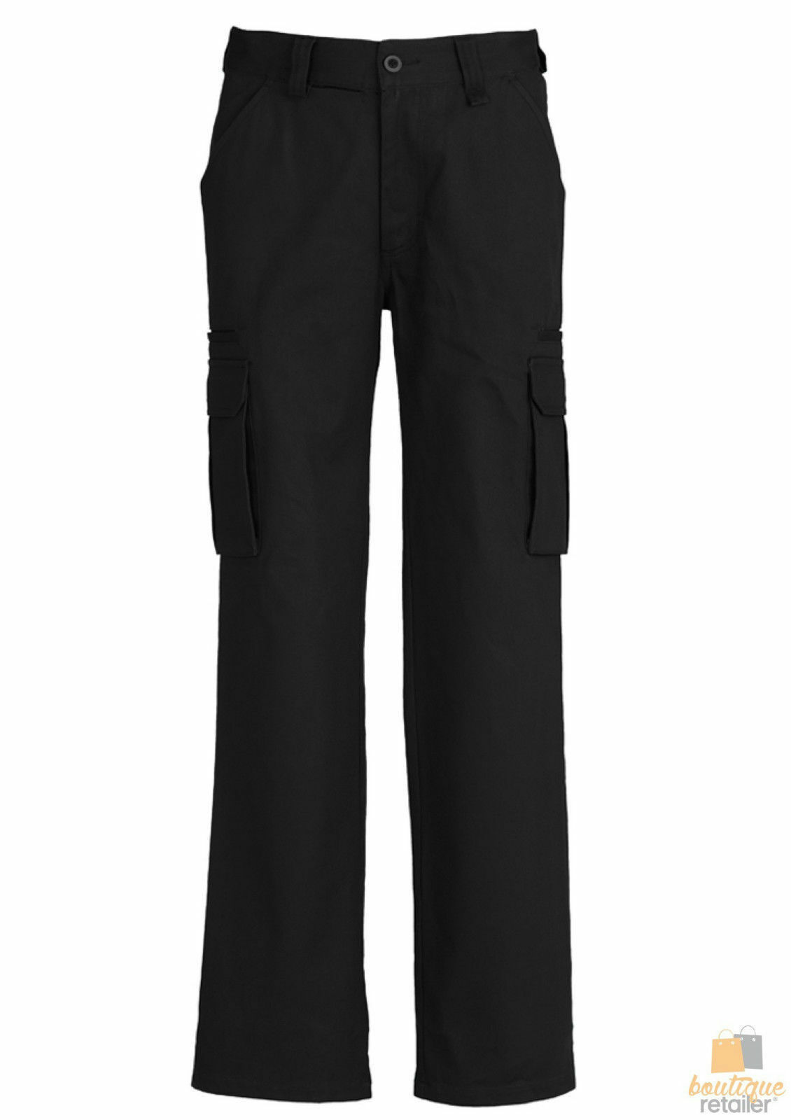 Mens-CARGO-PANTS-Work-Wear-Trousers-100-COTTON-Tradie-Pockets-Military-310gsm thumbnail 4