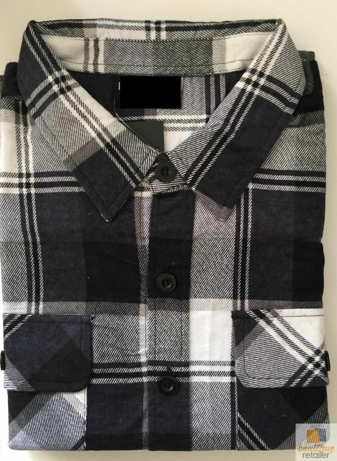 FLANNELETTE-SHIRT-100-COTTON-Mens-Flannel-Vintage-Long-Sleeve-Classic thumbnail 9