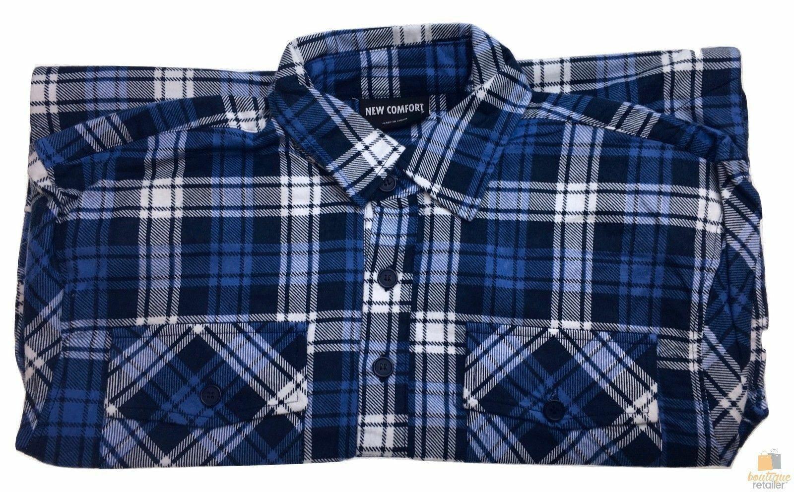 FLANNELETTE-SHIRT-100-COTTON-Mens-Flannel-Vintage-Long-Sleeve-Classic thumbnail 78