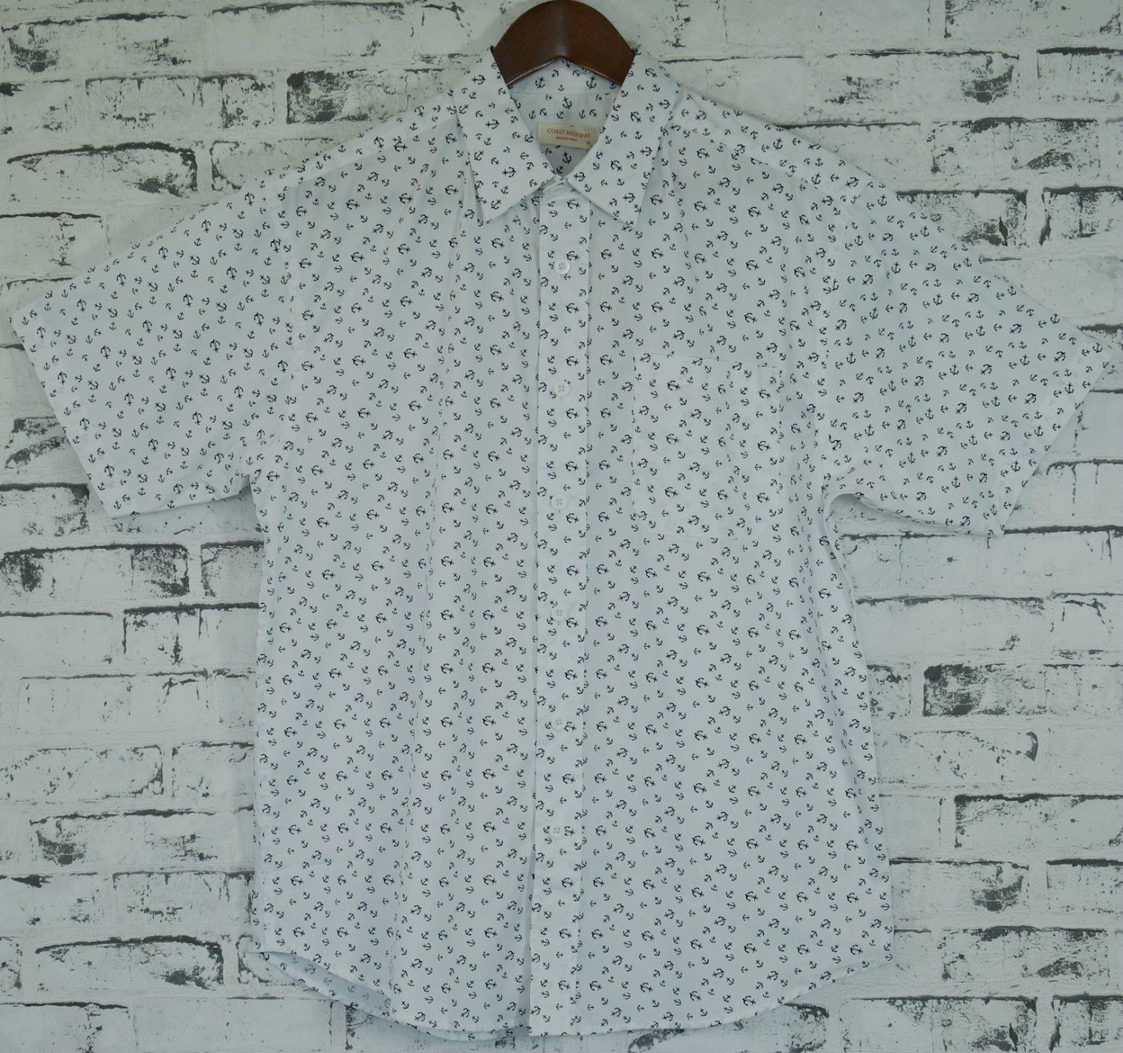 Men-039-s-MARINE-ANCHOR-SHIRT-100-COTTON-Surf-Party-Short-Sleeve-Vintage-S-6XL thumbnail 9