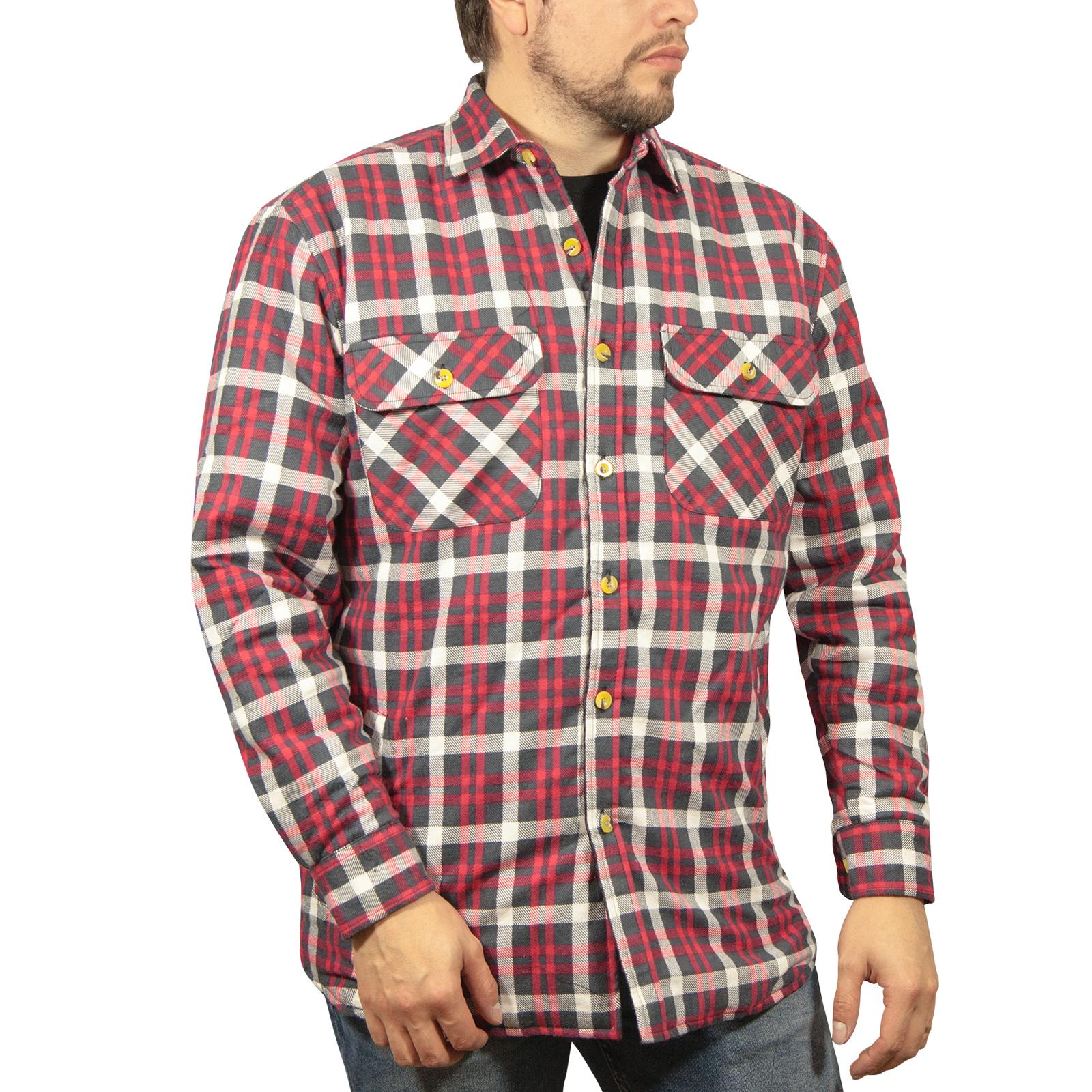Chaqueta-Acolchada-flanelita-Camisa-Hombre-100-algodon-acolchado-caliente-de-invierno-franela miniatura 49