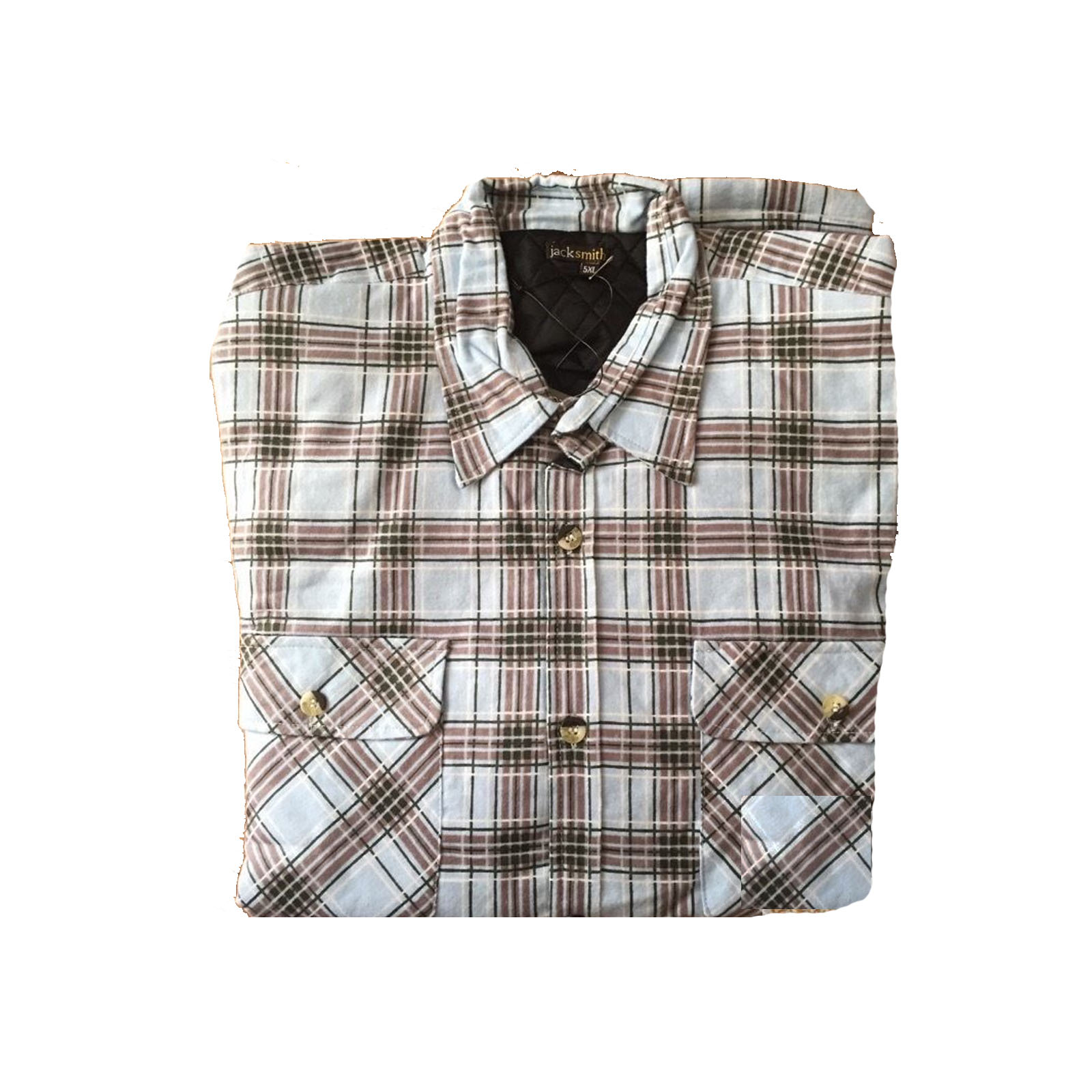 Men-039-s-QUILTED-FLANNELETTE-SHIRT-100-COTTON-Flannel-Jacket-Padded-Long-Sleeve thumbnail 71