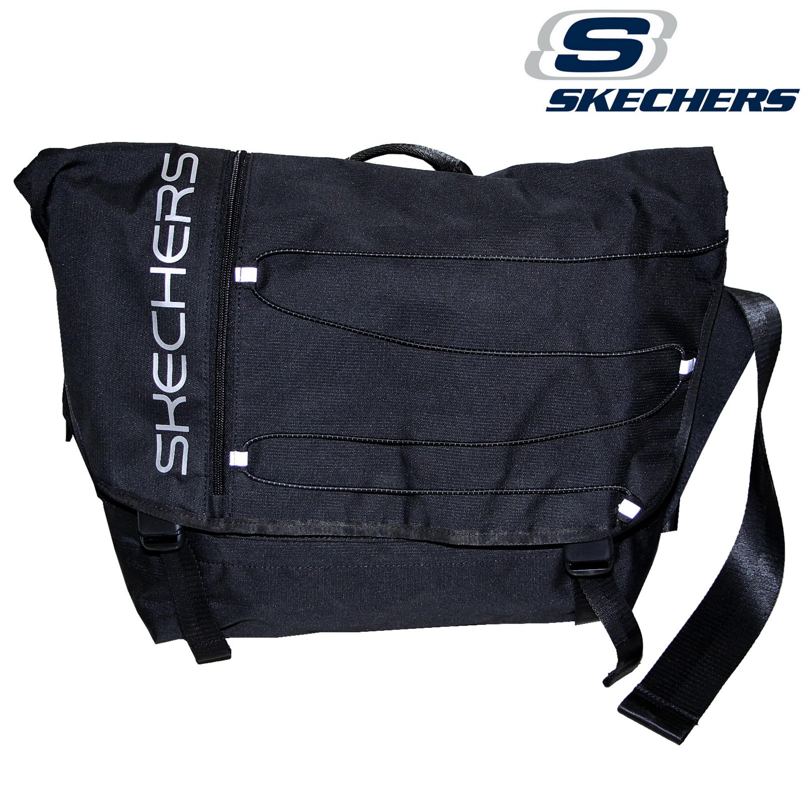 Skechers Santa Monica 2 Section Backpack w Laptop Pocket Travel Bag Black