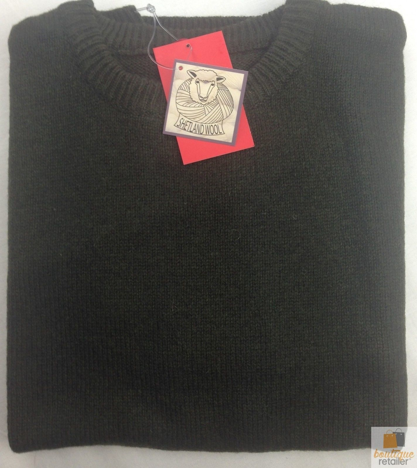 100-SHETLAND-WOOL-CREW-Round-Neck-Knit-JUMPER-Pullover-Mens-Sweater-Knitted-New thumbnail 92