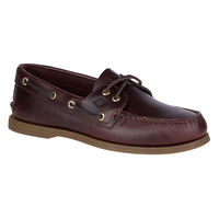 Sperry Men's Authentic AO 2 Eye Leather Boat Shoe Wide Top Sider Original - Amaretto