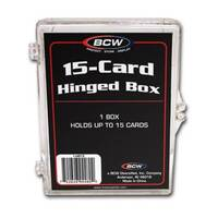 BCW 15 Card Hinged Playing Card Box Collect Storage Collector Holder