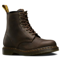 Dr. Martens 1460 8 Up Crazy Horse Leather Boots Shoes - Gaucho Brown