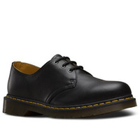 Dr. Martens 1461 Black Nappa Genuine Soft Leather Shoes 3 Eye Gibson Low Top