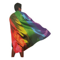 140cm DELUXE RAINBOW CAPE Party Fancy Dress Costume Adult Size