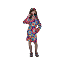 Kids Girls HIPPIE Hippy Costume Book Week Party Halloween 60s 70s Outfit