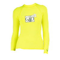 Body Glove Women's Rash Guard Rashie Swimming Swim Long Sleeve - Lemon