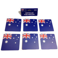 6pcs AUSTRALIA FLAG COASTERS Placemat Table Drinks Wine Beer Holder Souvenir