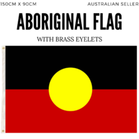 ABORIGINAL Flag INDIGENOUS National Heavy Duty Outdoor Australia Aussie 150cm x 90cm