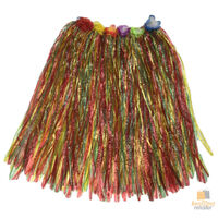 60cm HAWAIIAN HULA SKIRT Tropical Costume Dress Lei Grass Flower Party Adult New