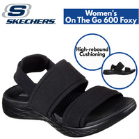 Skechers Women's On The Go 600 Sandals Shoes Foxy - Black/Black