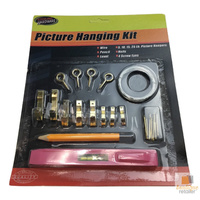 PICTURE HANGING KIT Set Wall Tools Pencil Spirit Level Screws Wire Hanger