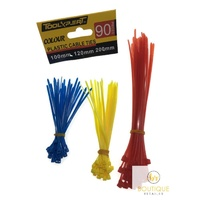 270pcs CABLE TIES Colour Zip Tie Set Kit Nylon Plastic Wrap UV Stabilised