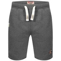 Tokyo Laundry Sweat Shorts Classic Jogger Casual - Mid Grey/Blue Marl