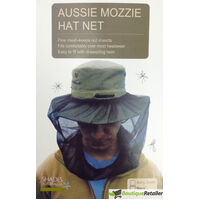 Mosquito Hat Net Head Protector Bee Bug Mesh Insect Mozzie Fishing Fly - Black