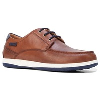 HUSH PUPPIES Men's Dusty Smooth Leather Shoes Formal or Casual - Dark Tan