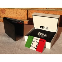 Mens Wallet - Genuine Italian Leather Designer Credit Card Bifold Slim Quality