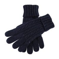 Dents Fareham Men's Cable Knit Gloves Warm Winter Thick - Royal Blue