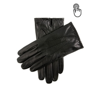 DENTS Aviemore Men's Touchscreen Leather Gloves Warm Winter - Black