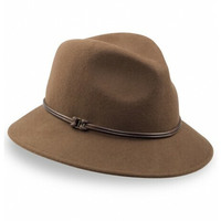 Goorin Brothers Women's Sofia 100% Wool Felt Fedora Hat - Brown