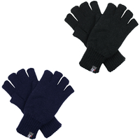 DENTS 3M THINSULATE Polar Fleece Fingerless Gloves Warm Knitted Insulation