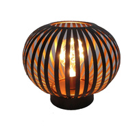16cm Round Metal LED Lantern Vintage Night Light Modern Designer Lamp - Round