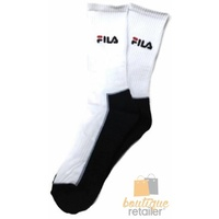 7x FILA Tennis Socks Crew Sports Squash Badminton Cushion Cotton Unisex BULK