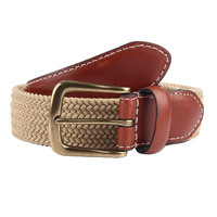 Dents Men's Stretch Elastic Webbing Belt - Beige