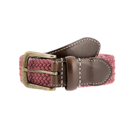 Dents Men's Stretch Elastic Webbing Belt - Flamingo